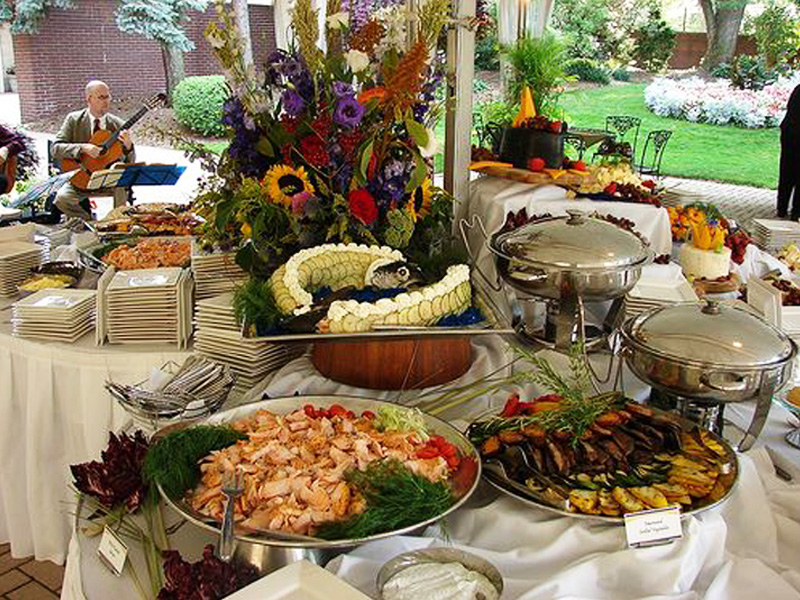 PhotoPicture Gallery Photoes And Pictures Of Catering Cranford - Catering buffet table setup