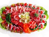 Beautiful and Decorative Antipasto - Cold Cuts and Cheese Platter