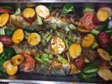 Baked Branzino with Vegetable Medley